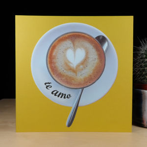 Frothy Love Te Amo Frothy Heart Card - love & romance cards