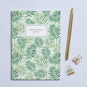 Personalised 'Palm Leaves' A5 Notebook - just because gifts