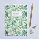 Personalised 'Palm Leaves' A5 Notebook