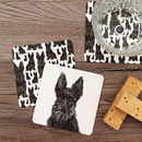 Scottie Dog Coasters 10pck