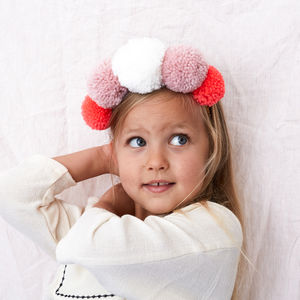 Pom Pom Crown - hair accessories