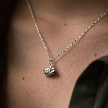 Swan And Ballerina Charm Necklace