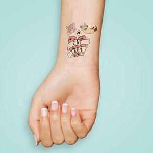 Cat Lady Temporary Tattoo Stocking Filler