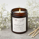 Personalised Floral Apothecary Candle