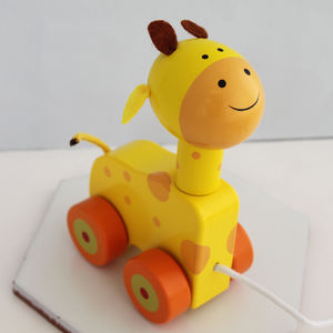 Wooden Pull Along Giraffe - traditional toys & games