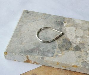 Silver Teardrop Ring - contemporary jewellery