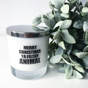 'Merry Christmas' Soy Wax Candle