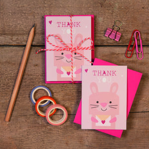 Children's Mini Thank You Cards Bunny - thank you cards