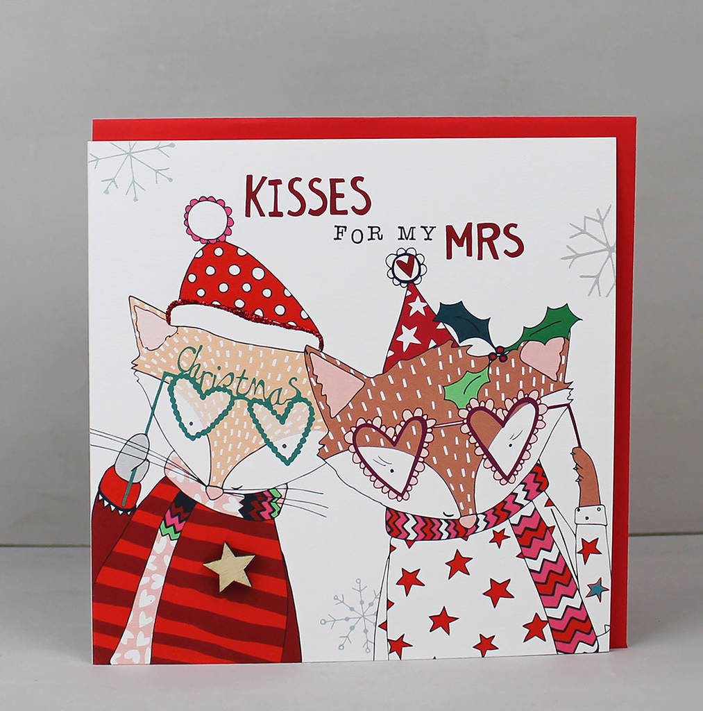 Christmas greetings card for a wife by molly mae christmas greetings card for a wife m4hsunfo