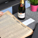 Tattinger Champagne With Newspaper Gift Set