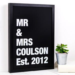 Personalised Mr And Mrs A3 Framed Print - what's new