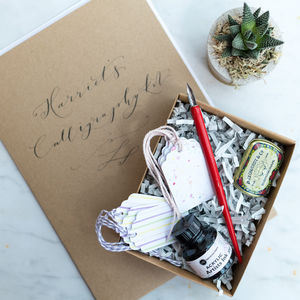 Personalised Modern Calligraphy Kit - desk accessories