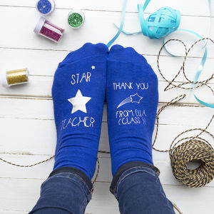 Star Teacher Personalised Socks - underwear & socks