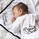 Baby Gift Set Goodnight Sleep Suit/Vest And Blanket
