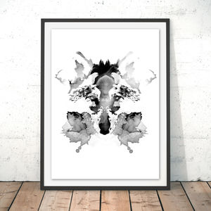 Rorschach Wolf Watercolour Fine Art Giclée