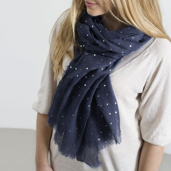Personalised Supersoft Sparkle Star Scarf