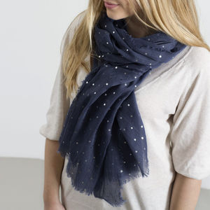 Personalised Supersoft Sparkle Star Scarf - womens