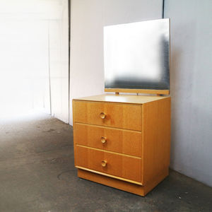 1970's Chest Of Drawers With Angled Mirror By Meredrew - bedroom