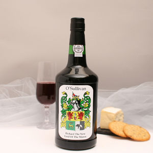 Personalised Port With Family Crest
