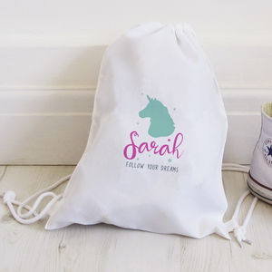 Personalised Unicorn Follow Your Dreams Bag - bags