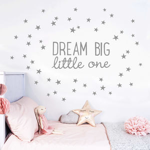 Dream Big Little One Wall Sticker - home decorating