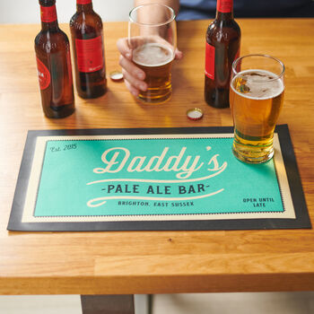 Personalised Vintage Style Drinks Bar Runner