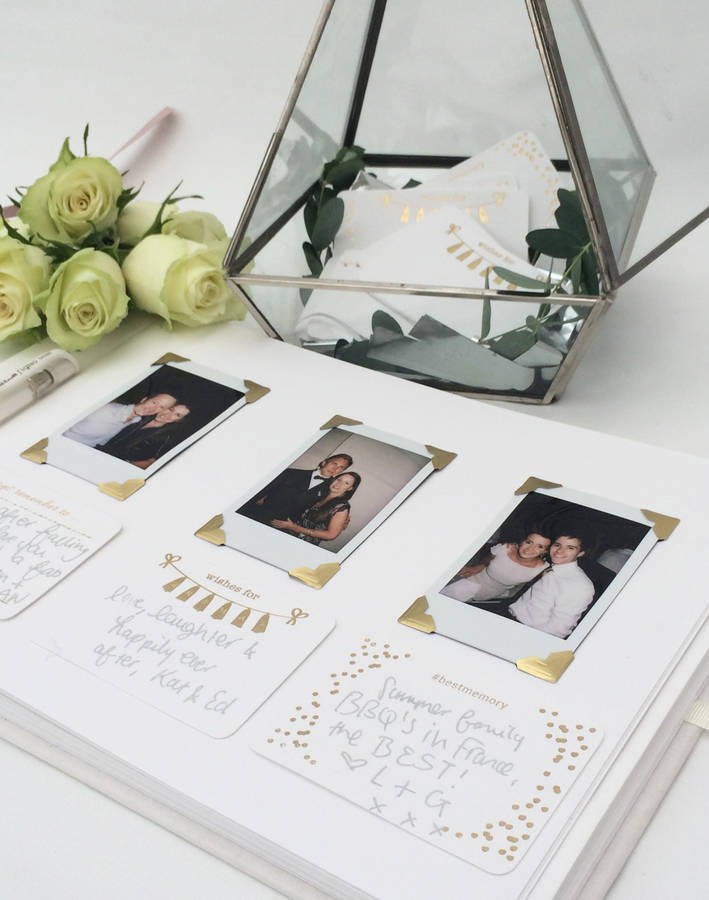 Personalised Ivory Wedding Guest Book