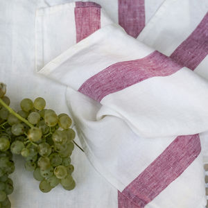 French Stripe Linen Napkin