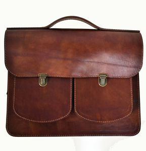 Leather Satchel Backpack Handmade Brown From Cutme - bags & purses
