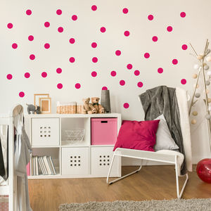 Monochrome Spot Wall Stickers - bedroom