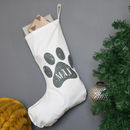 Personalised Paw Print Christmas Stocking