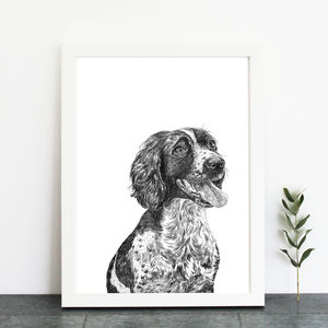 Bespoke Hand Drawn Dog Portrait