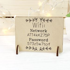 Wooden Wi Fi Password Sign