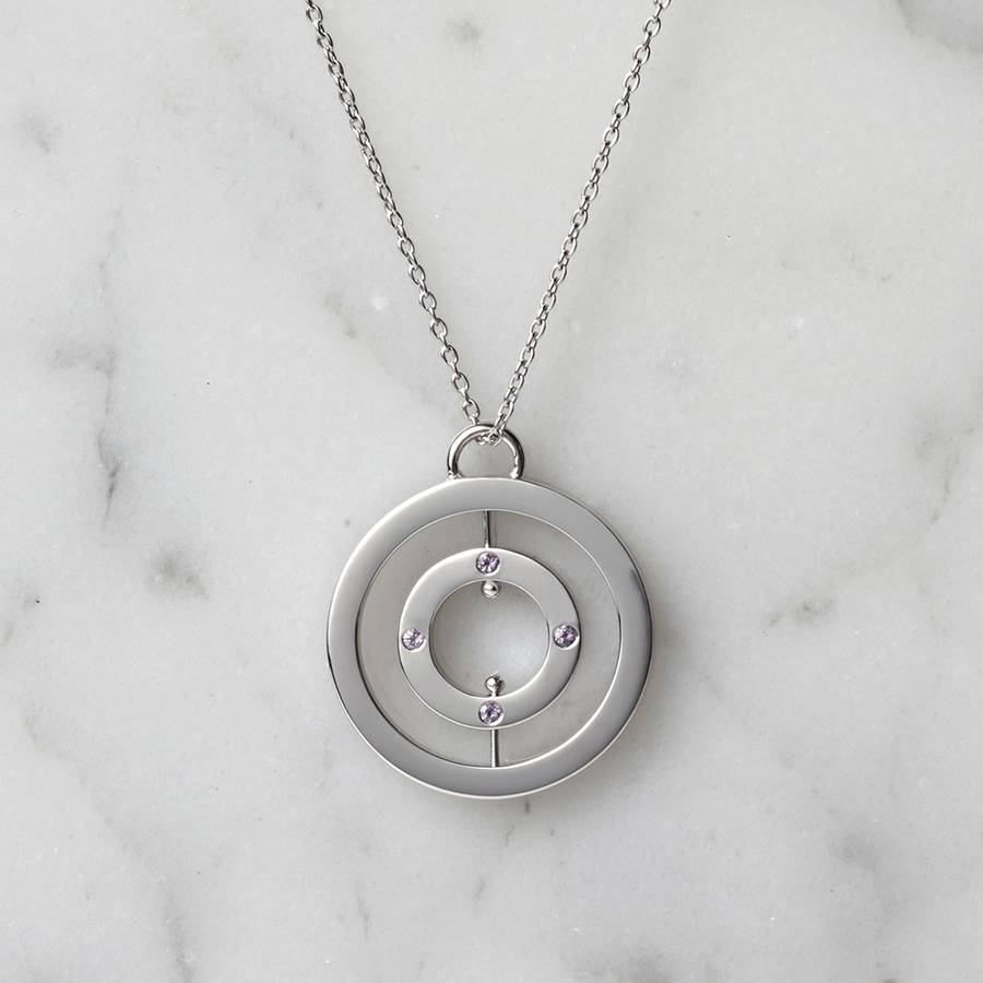 Personalised Spinning Halo Necklace
