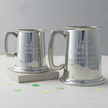 Personalised Engraved Pewter Tankard