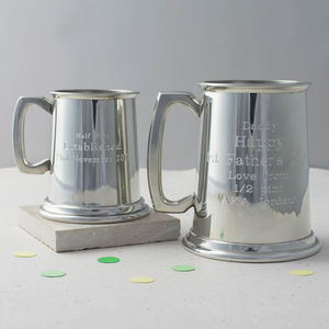 Personalised Engraved Pewter Tankard - drink & barware