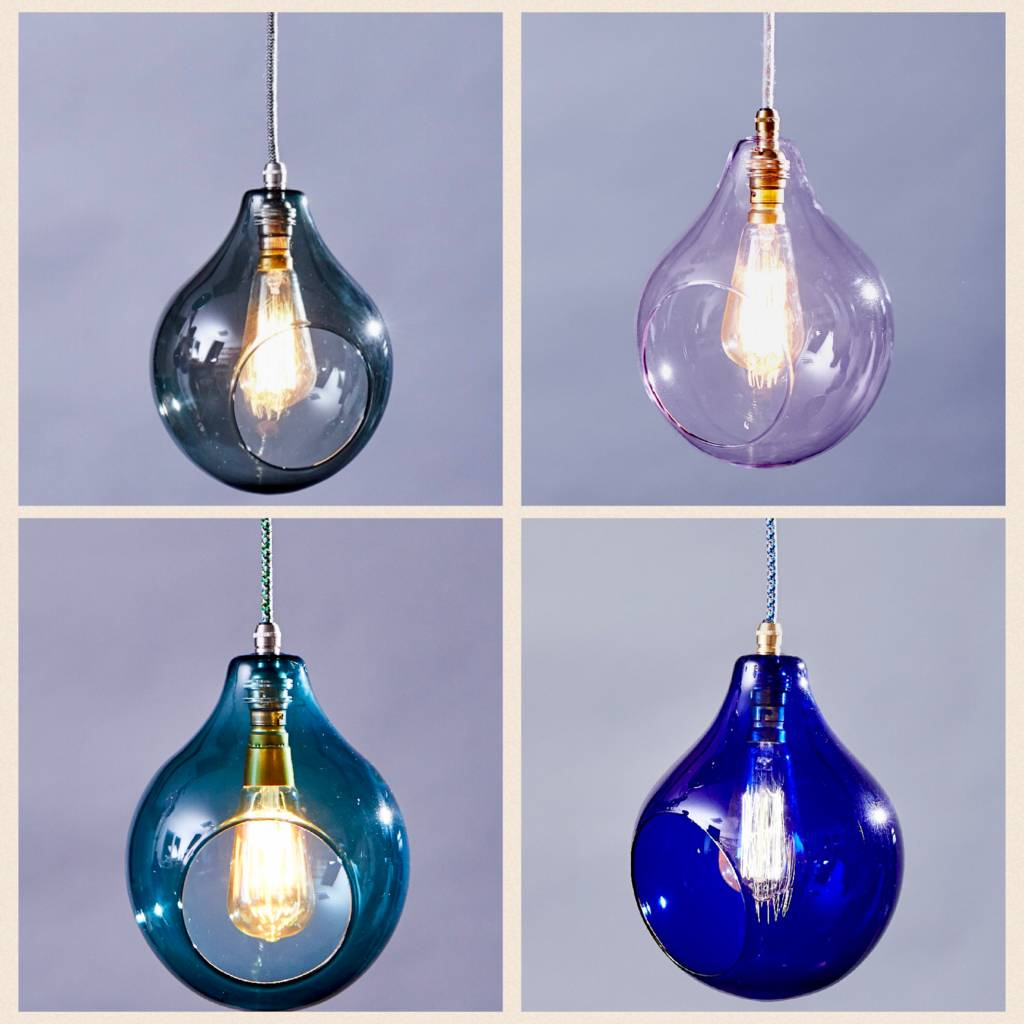 Coloured Glass Globe Louis Pendant Light By Glow Lighting Notonthehighstreet Com