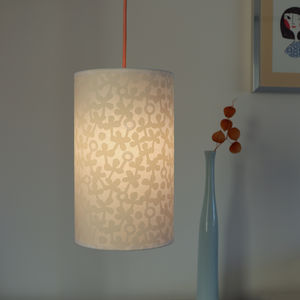 Clover Print Long Drum Lampshade
