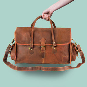 Personalised Leather Galley Weekender