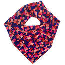 Abstract Printed Women's Square Silk Scarf