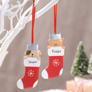 Personalised Pet Stocking Decoration