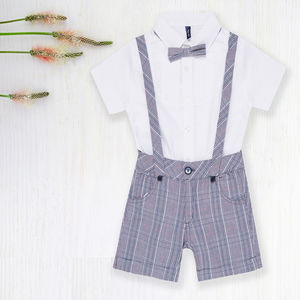 Tartan Overalls With Shirt - clothing