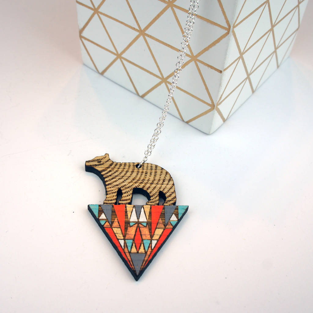 Triangle Bear Necklace