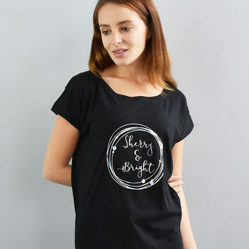 'Sherry And Bright' Christmas Women's Fashion T Shirt