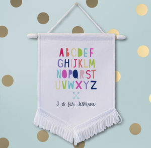 Personalised Alphabet Name Wall Banner