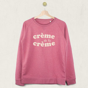 Crème De La Crème Sweatshirt Jumper - women's fashion