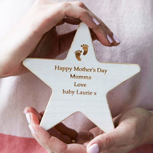 New Mum Personalised Wooden Star Keepsake - home accessories