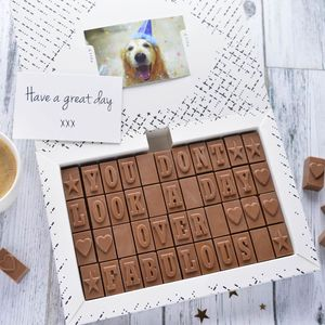 Personalised Chocolate Card In An Extra Large Box - summer sale