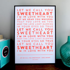 Song Lyrics Stencil Print - shop by subject