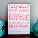 Song Lyrics Stencil Print